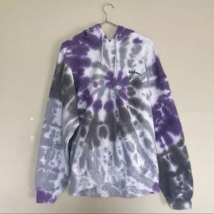 Urban Outfitters   iets frans Grey/Purple Tie-Dye Hoodie Size Medium